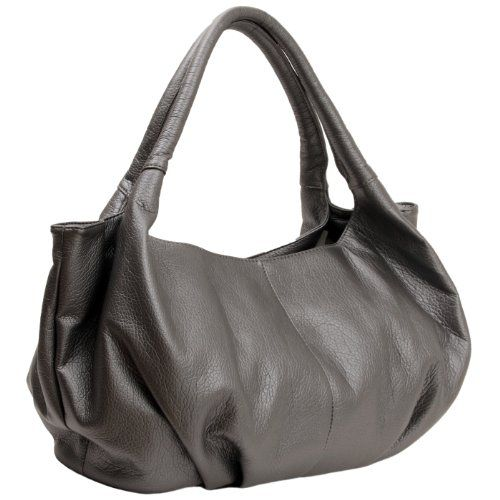 Mg Collection Gray Yelena Soft Top Double Handle Satchel Style Hobo Shoulder Bag