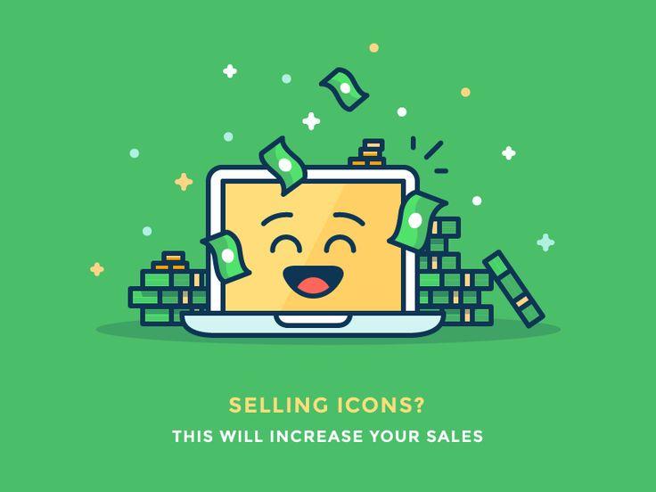 Sell more stock icons!  by Justas Galaburda #Design Popular #Dribbble #shots