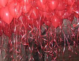 globos de corazon techo