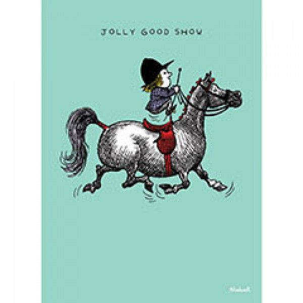 Thelwell Blank Greeting Card - Jolly Good Show - Stationery