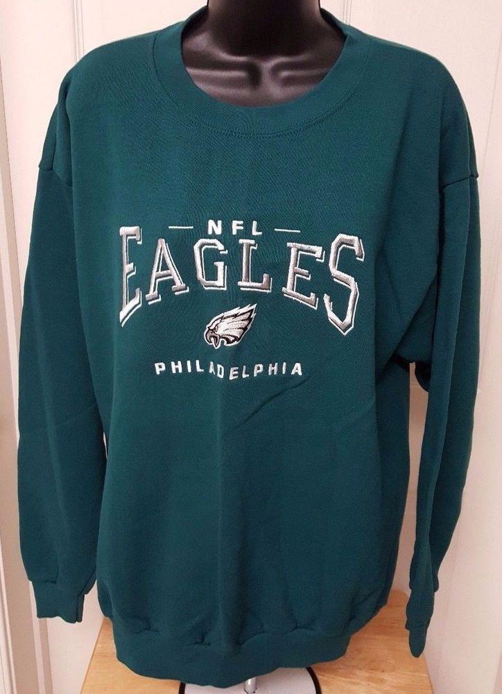 CSA Unisex Multi Color Philadelphia Eagles Sweatshirt Size L #CSA #PhiladelphiaEagles