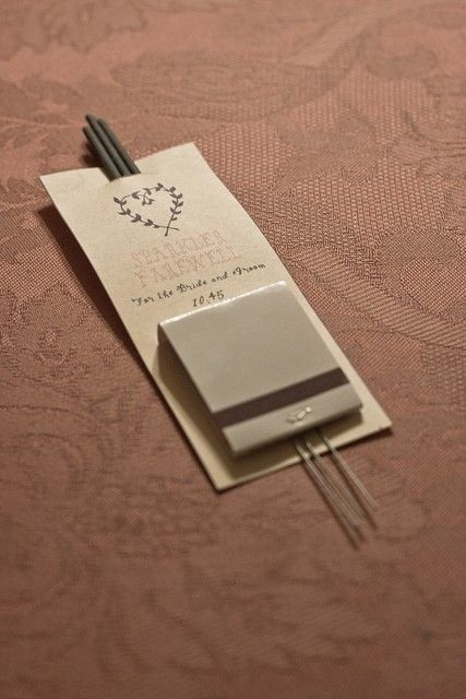 for a night wedding. Or replace with incense sticks for really easy and cheap wedding favors.