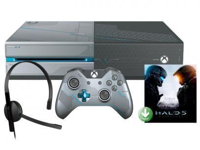 Console Xbox One 1TB com Controle Microsoft - Jogo Halo 5 Guardians Via Download com as melhores condições você encontra no Magazine 01franklyn. Confira!