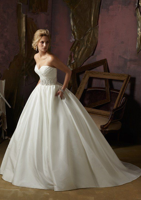 low cost wedding dresses in atlantga%0A Strapless Taffeta  u     Satin Ballgown with Pleated Sweetheart Neckline  u      Crystal Beaded Waistband