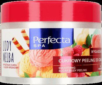 Perfecta, Spa, peeling cukrowy do ciała, Lody Melba, złuszczająco-wygładzający, 225 ml - Internetowa drogeria Rossmann - Zakupy online