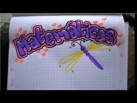 marcar un cuaderno de matemáticas para niña - YouTube