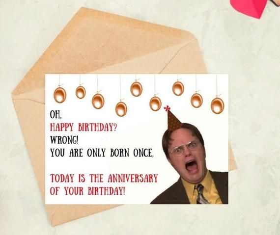 Dwight Schrute Birthday Card The Office Tv Show Gifts