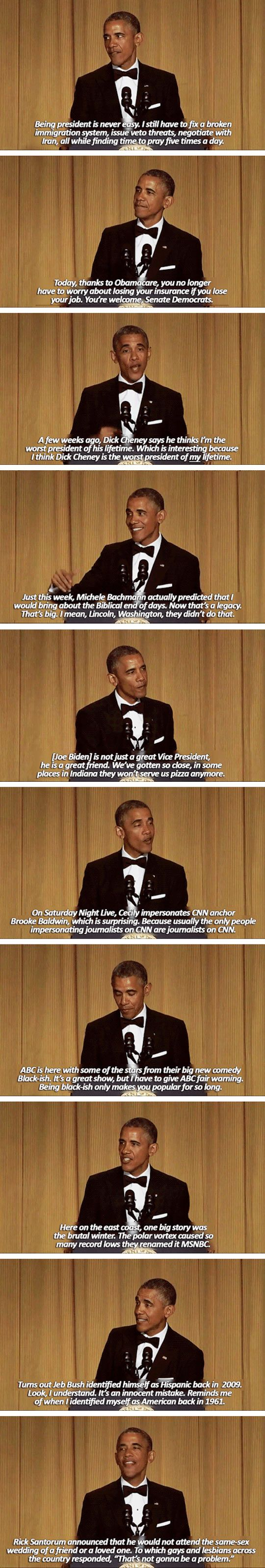 Sometimes I wonder if the White House Correspondent Dinner ~thing was even real
