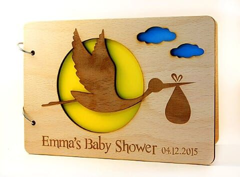 Custom Baby Shower Guest Book Personalized by ecoandfun on Etsy