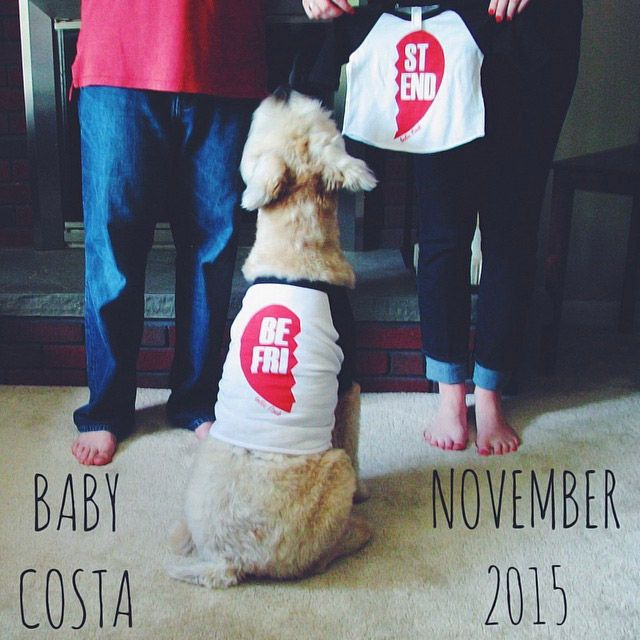 "Show off a set of tees emblazoned with each half of the iconic ""best friends"" heart charm—one for dog, one for baby.  Shutterfly Baby brings you Countdown to Baby—ideas and inspiration to help you get ready for your new addition. To learn how Shutterfly Baby can help, visit Shutterfly.com."