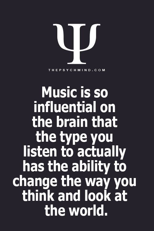 that is why it is so important to listen to the right kinds of music!