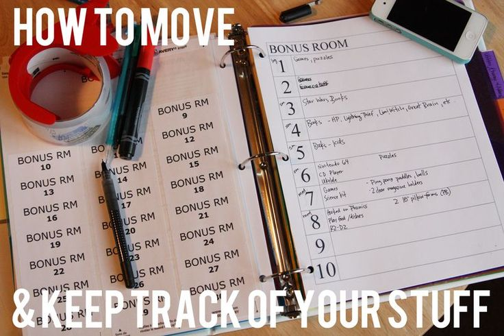 How to move and keep track of your stuff!