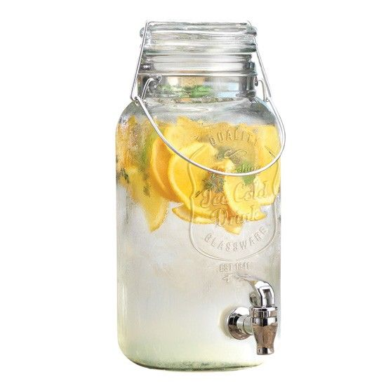 Mason Jar Glass Drink Dispenser The
