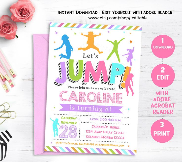 562 best Kids parties images – Pump It Up Party Invitations