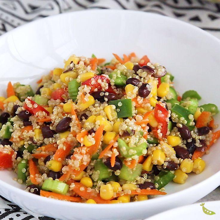 Refreshing Quinoa Black Bean Salad Sweetpeasandsaffron Com Recipe Clean Eating Vegetarian Clean Eating Lunch Clean Eating Recipes