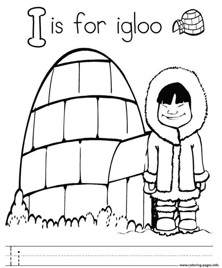 Fine Coloring Page Igloo that you must know, You?re in
