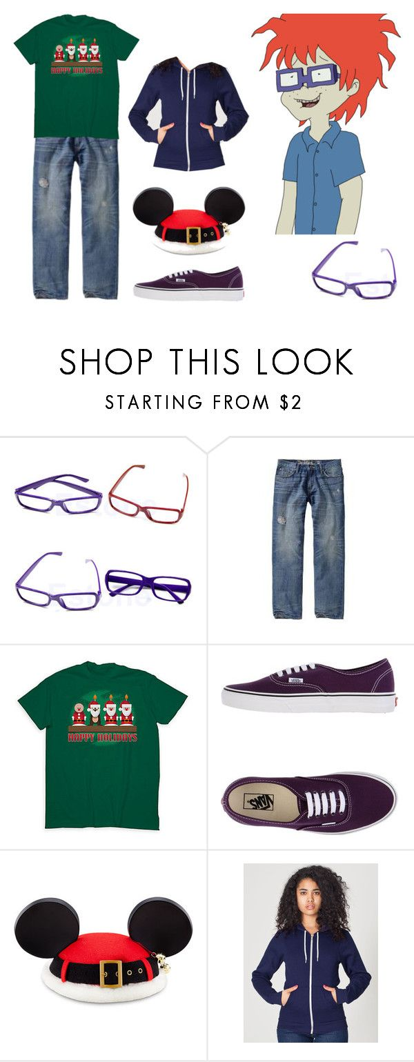 """""""Chuckie Love in Disney Epilogue"""" by brainyxbat ❤ liked on Polyvore featuring Old Navy, Vans, American Apparel, men's fashion and menswear"""