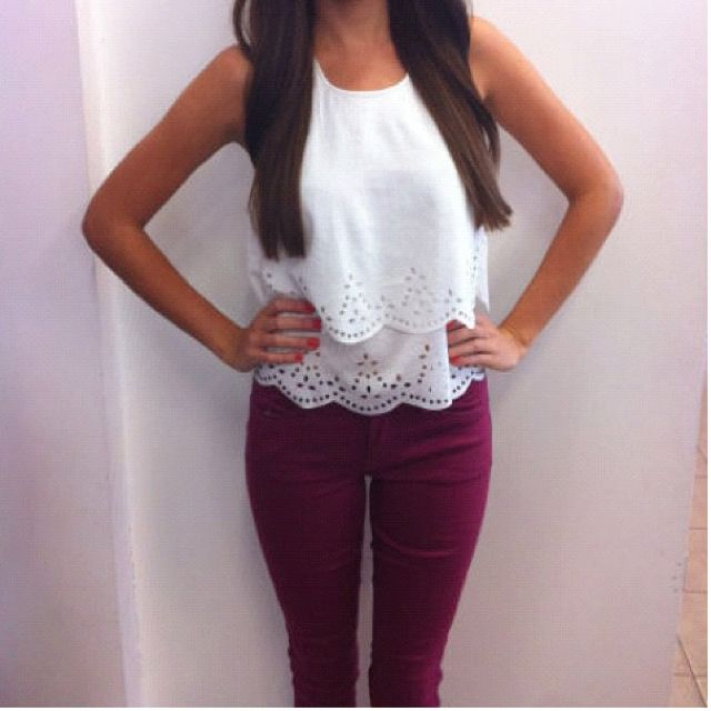 129 best Maroon Jeans images on Pinterest | Casual wear ...