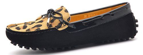 Opp Loafers Leopard Print Womens Boat Shoes Cheap Loafers for Women