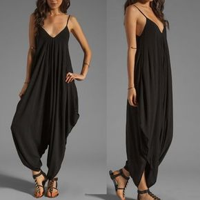 Bohemian Chic Sleeveless Loose Fit Jumpsuit