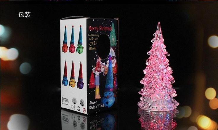 LED Christmas tree table lamp for $1.73