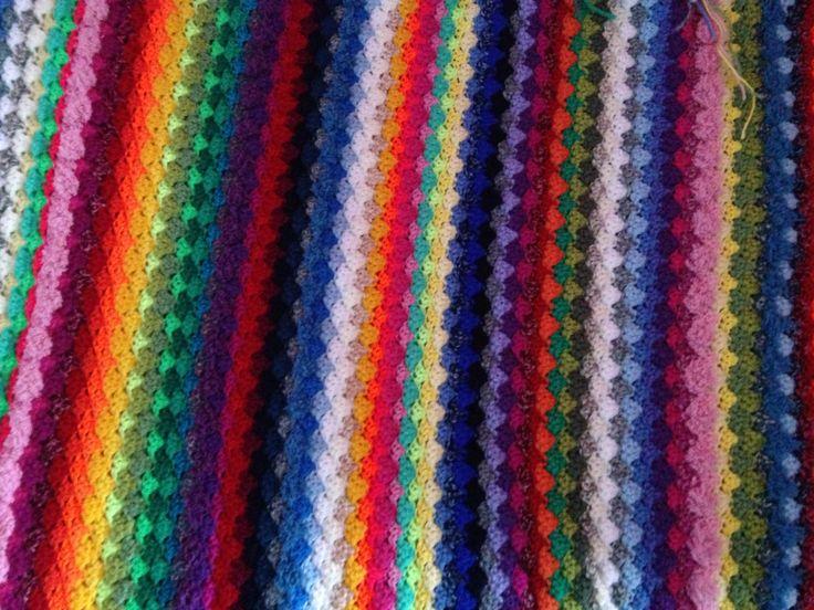 Work in progress: Colored stripe blanket