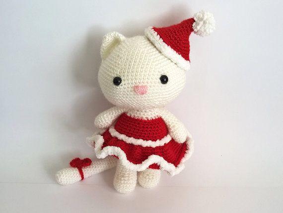 Christmas Crochet Kitten Amigurumi Cats Crochet by RenaTienda