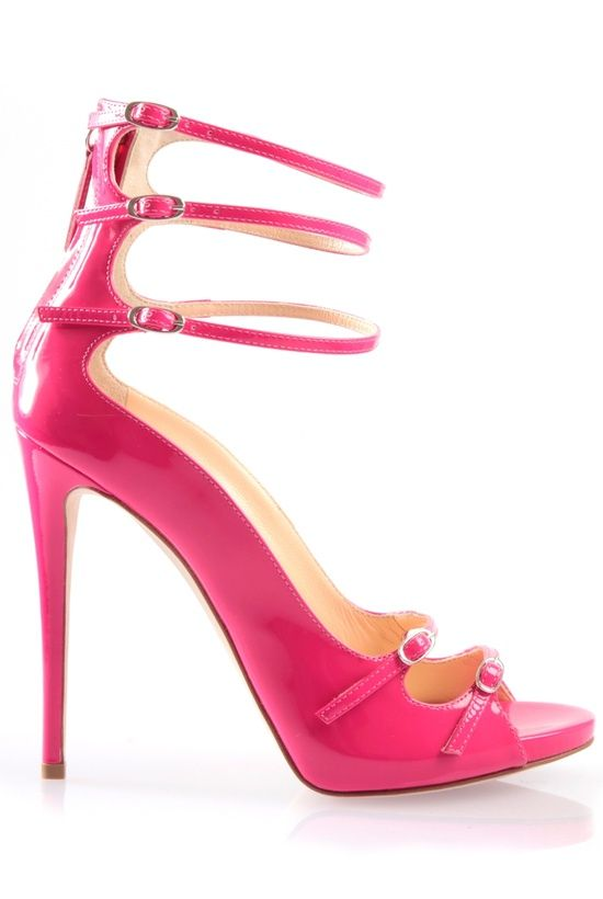 Strappy Neon Heel