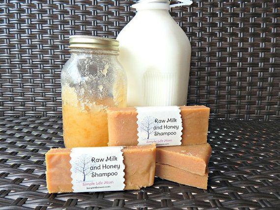 Raw Milk and Honey Shampoo Bar - Handmade cold processed natural shampoo with citrus essential oils