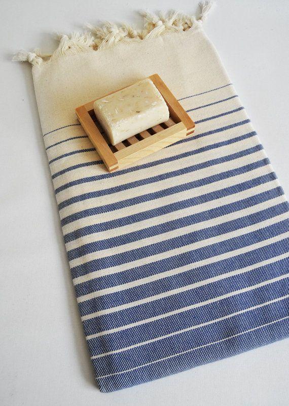 Bathstyle Turkish BATH Towel Peshtemal Navy Blue by bathstyle