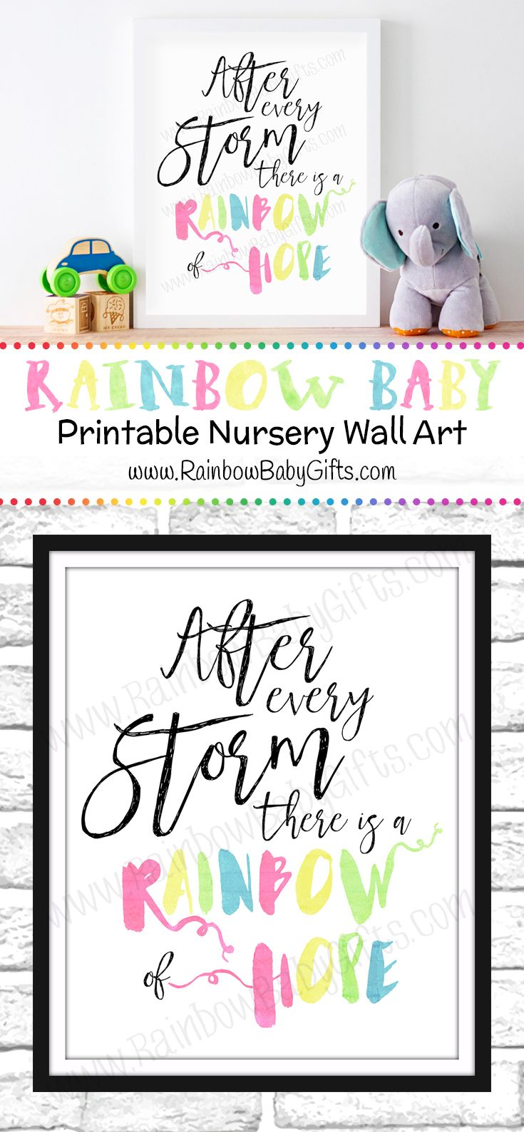 After Every Storm There Is A Rainbow Of Hope - Rainbow Pastel Watercolor Nursery Wall Art https://www.etsy.com/ca/listing/459771356/rainbow-baby-nursery-wall-art-after