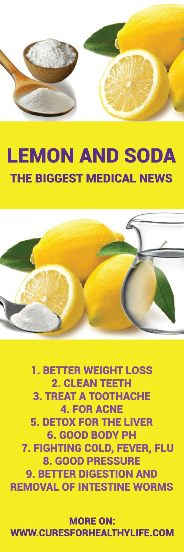 The mix of baking soda and lemon is even 10.000 times stronger than chemo. Sadly, Big Pharma keeps this as a secret since it needs profit from chemo and medicines. The lemon can kill cancer and it has such an effect on cysts and tumors. Read more on the good things about this citrus fruit:Continue Reading