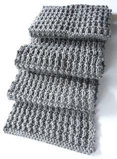 Um padrão de cachecol que não está além das minhas magras habilidades.