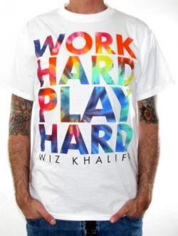 Wiz Khalifa T-Shirt - Work Hard Play Hard