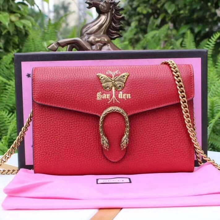 7e648a21127 Gucci Garden Butterfly Dionysus Mini Chain Bag 516920 Red 2018 ...