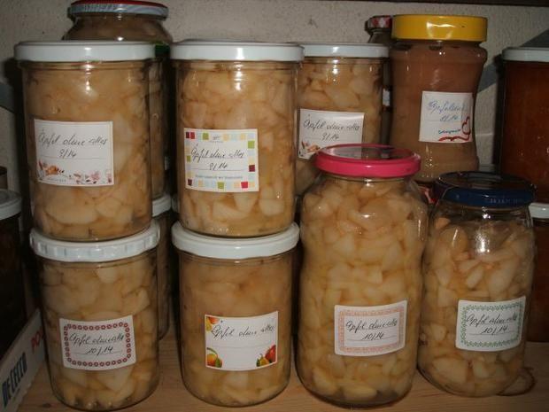 Rezept: Äpfel für Kuchen, Strudel, Füllungen haltbar machen