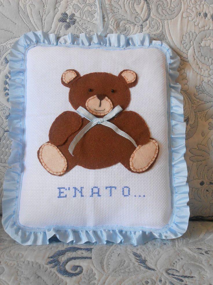 Fiocco di nascita orsetto, by La ragnetta creativa, 25,00 € su misshobby.com