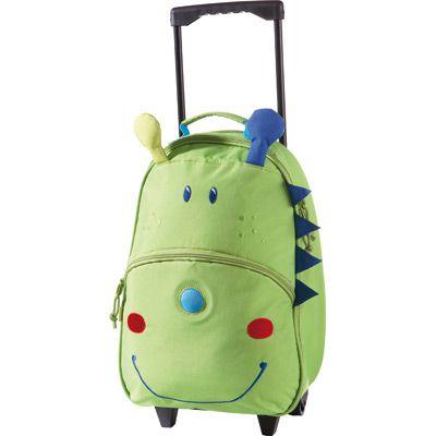 Très pratique cette valise à roulette pour partir en vacances!