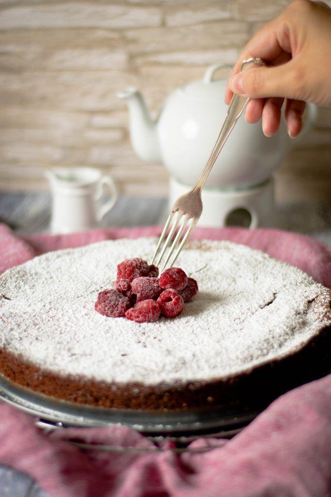Französische Schokoladentarte - saftiger schokokuchen ohne mehl