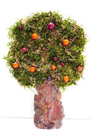 Bäume aus Moos, Rinde und Zapfen - Natur Basteln - Meine Enkel und ich - Made with schwedesign.de