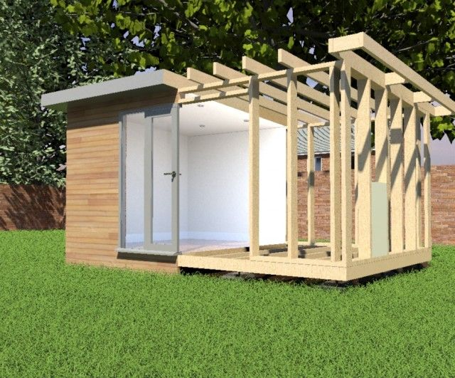 office in the garden. garden room construction office in the