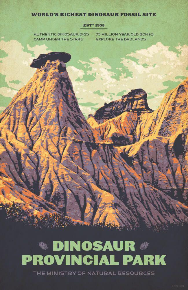 Dinosaur Provincial Park poster