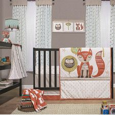 Clever Fox 4 Piece Crib Bedding Set