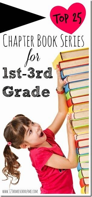 Top 25 chapter book series for 1st-3rd grade with printable list! #books #reading #homeschooling