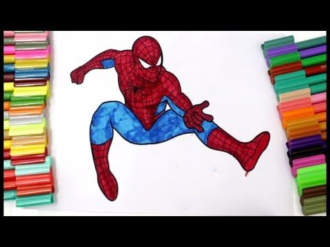 Coloring Spiderman With Not Mash, Coloring Hulk and Spider ...