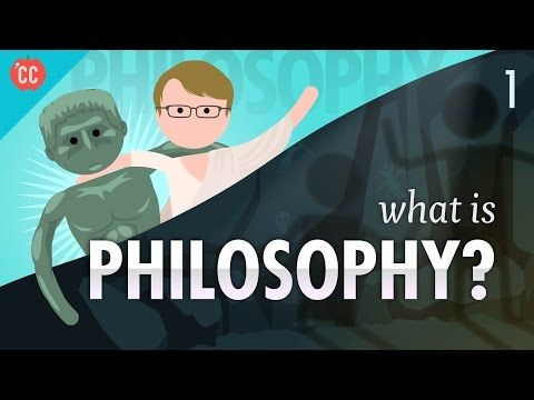 What is Philosophy?: Crash Course Philosophy #1 Today Hank begins to teach you about Philosophy by discussing the historical origins of philosophy in ancient Greece, and its three main divisions: metaphysics, epistemology, and value theory. He will also introduce logic, and how you're going to use it to understand and critically evaluate a whole host of different worldviews throughout this course. And also, hopefully, the rest of your life. By: