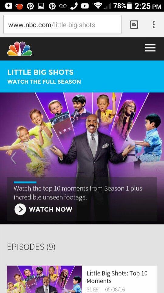 Little Big Shots with Steve Harvey on NBC channel 2 Houston Sundays 8/7c