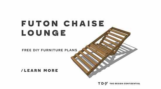 Free DIY Furniture Plans / How to Build an Indoor Outdoor Single Futon Chaise Lounge