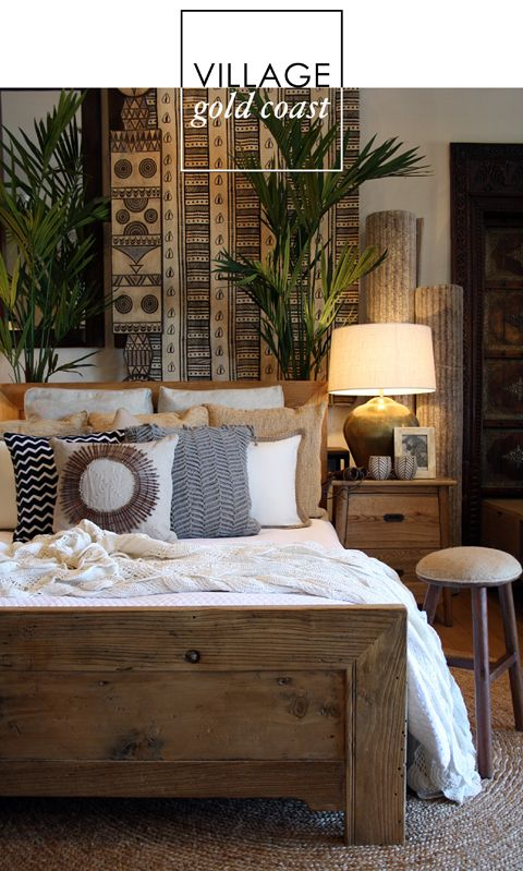 Earthy bedroom home design for Earthy apartment decor