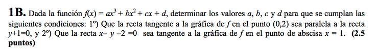 Ejercicio 1B Junio 2007-2008. Propuesto en examen pau de Canarias. Matemática. Continuidad, derivabilidad y representación de funciones. Límites.